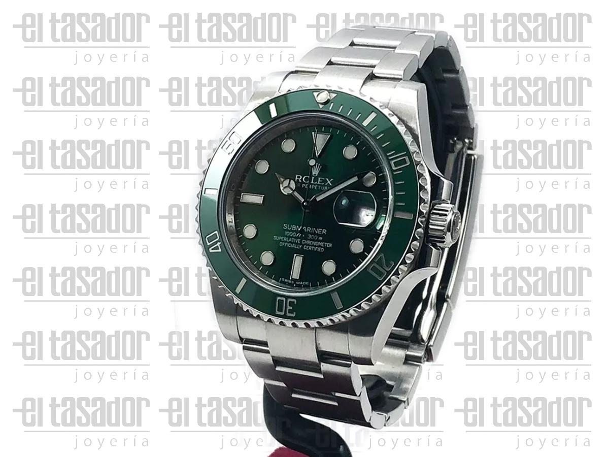 Reloj Rolex Oyster Perpetual Date Submariner Hulk - El Tasador | Venta de Joyas